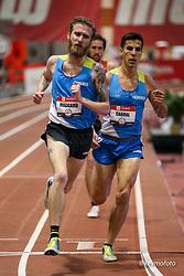 2020 USATF Indoor Championship<br /> Albuquerque, NM 2020-02-14<br /> photo credit: © 2020 Kevin Morris<br /> mens 3000m, HOKA