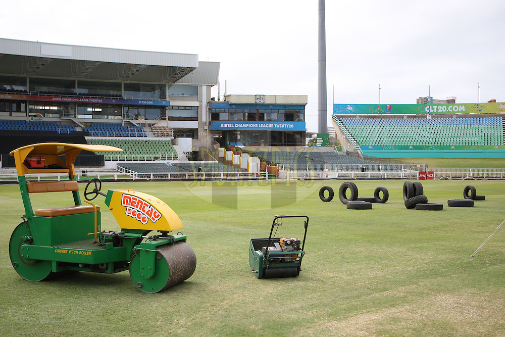 General views of Kingsmead stadium in Durban  during the build up to the Champions League T20 tournament being held in South Africa between the 10th and 26th September 2010..Photo by: Steve Haag/SPORTZPICS/CLT20