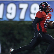 William Penn Defensive Back Marvell Watts (22) heading to the end zone for a 53-yard touchdown and a 21-7 lead in the 4th quarter of the DIAA State Championship football game between William Penn and Middletown Saturday, Nov. 29 2014, at Delaware Stadium in Newark Delaware.