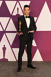 "Rami Malek, winner of the Best Actor In A Leading Role Award for ""Bohemian Rhapsody"" at the 91st Annual Academy Awards (Oscars) presented by the Academy of Motion Picture Arts and Sciences.<br /> (Hollywood, CA, USA)"