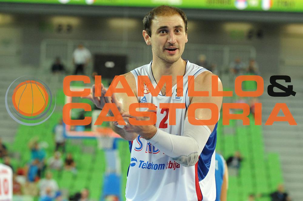 DESCRIZIONE : Lubiana Ljubliana Slovenia Eurobasket Men 2013 Finale Settimo Ottavo Posto Serbia Italia Final for 7th to 8th place Serbia Italy<br /> GIOCATORE : Nenad Krstic<br /> CATEGORIA : Delusione<br /> SQUADRA : Serbia Serbia<br /> EVENTO : Eurobasket Men 2013<br /> GARA : Serbia Italia Serbia Italy<br /> DATA : 21/09/2013 <br /> SPORT : Pallacanestro <br /> AUTORE : Agenzia Ciamillo-Castoria/Max.Ceretti<br /> Galleria : Eurobasket Men 2013<br /> Fotonotizia : Lubiana Ljubliana Slovenia Eurobasket Men 2013 Finale Settimo Ottavo Posto Serbia Italia Final for 7th to 8th place Serbia Italy<br /> Predefinita :