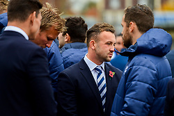 Tom Lindsay, Jordan Crane, Andy Uren and Luke Morahan in attendance at the Remembrance Service at the Memorial Stadium - Ryan Hiscott/JMP - 09/11/2018 - FOOTBALL - Memorial Stadium - Bristol, England - Memorial Stadium Remembrance Service