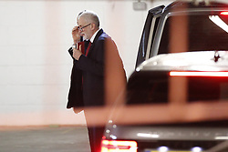 © Licensed to London News Pictures. 27/11/2019. London, UK. Labour Party Leader Jeremy Corbyn arrives at Church House via an underground car park for a speech on the NHS. Photo credit: Peter Macdiarmid/LNP