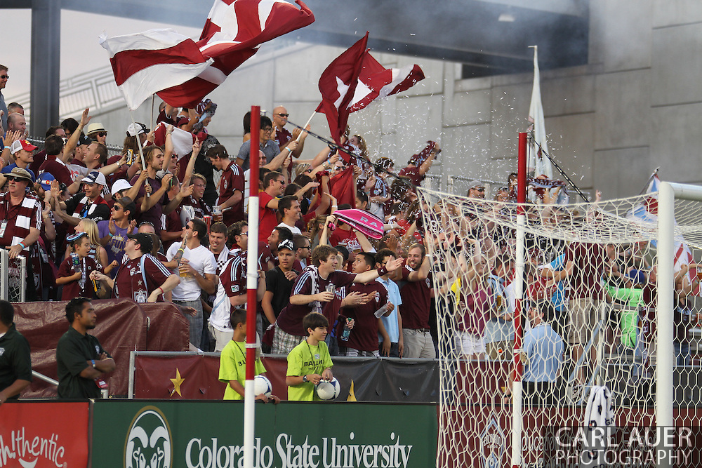 August 18th, 2012: Colorado Rapids fans celebrate midfielder Brian Mullan (11) \ first half goal against Chivas USA at Dick's Sporting Goods Park