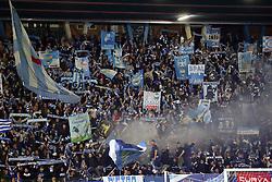 """Foto Filippo Rubin<br /> 04/04/2017 Ferrara (Italia)<br /> Sport Calcio<br /> Spal vs Novara - Campionato di calcio Serie B ConTe.it 2016/2017 - Stadio """"Paolo Mazza""""<br /> Nella foto: I TIFOSI DELLA SPAL<br /> <br /> Photo Filippo Rubin<br /> Apirl 04, 2017 Ferrara (Italy)<br /> Sport Soccer<br /> Spal vs Novara - Italian Football Championship League B ConTe.it 2016/2017 - """"Paolo Mazza"""" Stadium <br /> In the pic: SPAL FANS"""