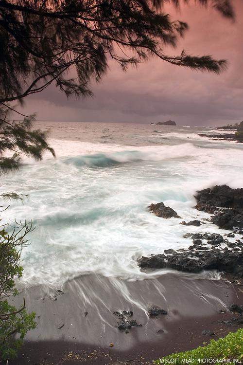 Alau Island, view from Hana, Maui, Hawaii