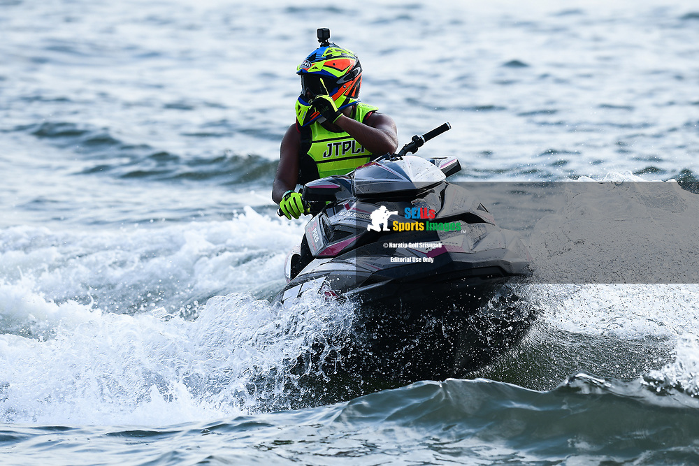 PATTAYA, THAILAND - DECEMBER 09: Waleed Alsharshani (11) of Qatar reaction after the Pro Runabout GP Moto4 at the Thai Airways International Jet Ski World Cup 2018, Jomtien Beach, Pattaya, Thailand on December 09, 2018. <br /> .<br /> .<br /> .<br /> (Photo by: Naratip Golf Srisupab/SEALs Sports Images)<br /> .<br /> Any image use must include a mandatory credit line adjacent to the content which should read: Naratip Golf Srisupab/SEALs Sports Images