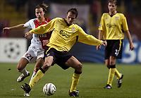 Fotball<br /> Champions League 2004/05<br /> Monaco v Liverpool<br /> 23. november 2004<br /> Foto: Digitalsport<br /> NORWAY ONLY<br /> DIETMAR HAMANN (LIV) / PONTUS FARNERUD (MON)