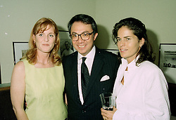 Left to right, SARAH DUCHESS OF YORK, MR DAVID TANG the Multi millionaire Hong Kong businessman and his fiance MISS LUCY WASTNAGE, at a party in London on 11th June 1997.LZG 3