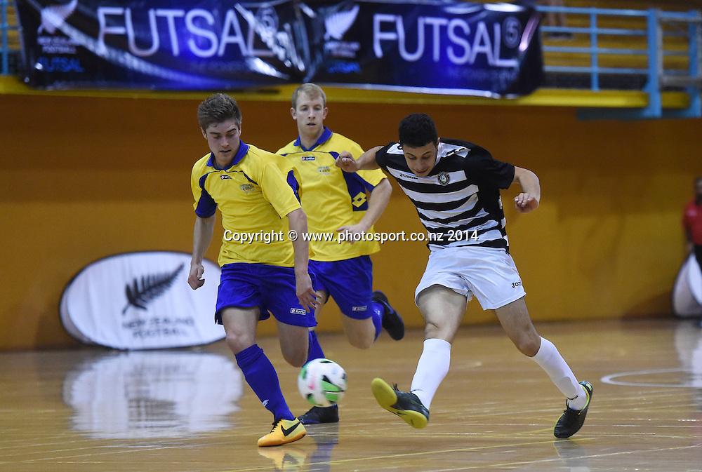 Northern's Matheus Damasio. Futsal South v Northern Futsal. National Futsal League, Series 3. ASB Stadium, Auckland, New Zealand. Friday 5 December 2014. Photo: Andrew Cornaga/photosport.co.nz