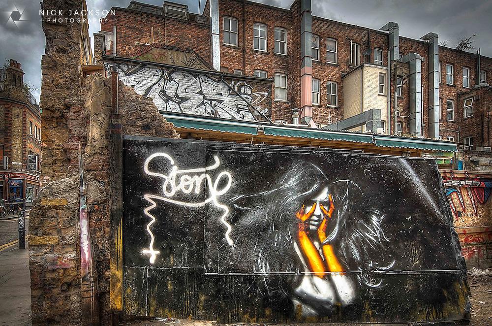 Beautiful street art by Stone.