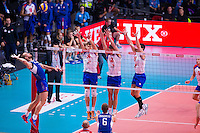 2013 Volleyball European Championship semifinal Serbia - Russia