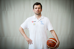 Sasa Lukic of Slovenian Deaf Basketball team at media day, on June 13, 2016 in GIB Centre, Ljubljana, Slovenia. Photo by Vid Ponikvar / Sportida