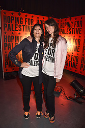 """Karma Nabulsi and Bella Freud at """"Hoping For Palestine"""" Benefit Concert For Palestinian Refugee Children held at The Roundhouse, Chalk Farm Road, England. 04 June 2018."""