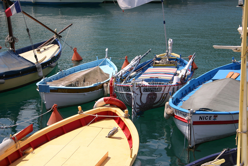 Boats in Nice Port France