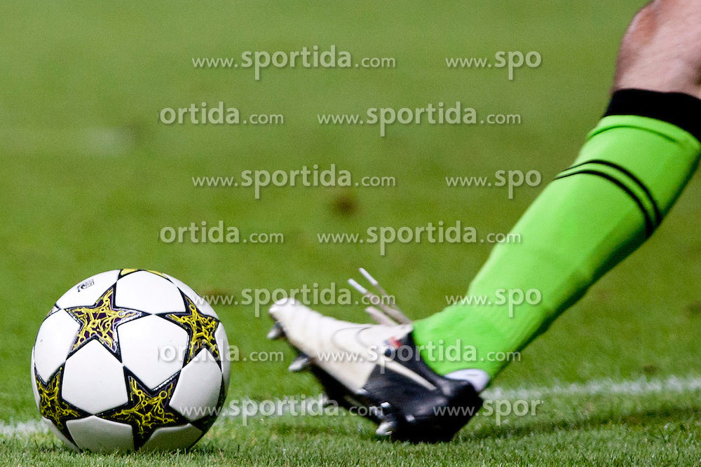 Ball during Play-offs for Champions League between NK Maribor (Slovenia) and GNK Dinamo Zagreb (Croatia), on August 28, 2012, in Maribor, Slovenia. (Photo by Urban Urbanc / Sportida.com)