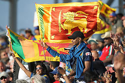 July 1, 2019 - Chester Le Street, County Durham, United Kingdom - Sri Lankan fans celbrating after their victory over the West Indies                        during the ICC Cricket World Cup 2019 match between Sri Lanka and West Indies at Emirates Riverside, Chester le Street on Monday 1st July 2019. (Credit Image: © Mi News/NurPhoto via ZUMA Press)