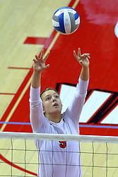 23 November 2017: Stef Jankiewicz  during a college women's volleyball match between the Valparaiso Crusaders and the Illinois State Redbirds in the Missouri Valley Conference Tournament at Redbird Arena in Normal IL (Photo by Alan Look)