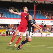 Aberdeen's Mark Reynolds and Dundee's Paul McGowan - Dundee v Abderdeen, SPFL Premiership at Dens Park<br /> <br />  - &copy; David Young - www.davidyoungphoto.co.uk - email: davidyoungphoto@gmail.com