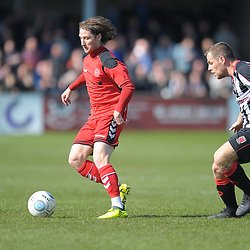 TELFORD COPYRIGHT MIKE SHERIDAN 6/4/2019 - James McQuilkin of AFC Telford during the Vanarama Conference North fixture between Chorley FC and AFC Telford United at Victory Park