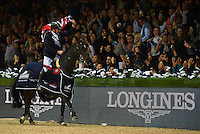 HONG KONG - FEBRUARY 15:  Longines Hong Kong Masters International Show Jumping at Asia World Expo on February 15, 2015 in Hong Kong, Hong Kong. (Photo by Manuel Queimadelos / Oxer Sport)