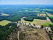 Nederland, Overijssel, Gemeente Dinkelland; 21–06-2020; Hezingen, Springendal, natuurgebied ten noorden van Ootmarsum en ten oosten vanVasse, op de grens met Duitsland. Leefgebied van hagedis en salamander, deels open heide.<br /> Hezingen, Springendal, nature reserve north of Ootmarsum and east of Vasse, on the border with Germany. Habitat of lizard and salamander, partly open heather.<br /> <br /> luchtfoto (toeslag op standaard tarieven);<br /> aerial photo (additional fee required)<br /> copyright © 2020 foto/photo Siebe Swart