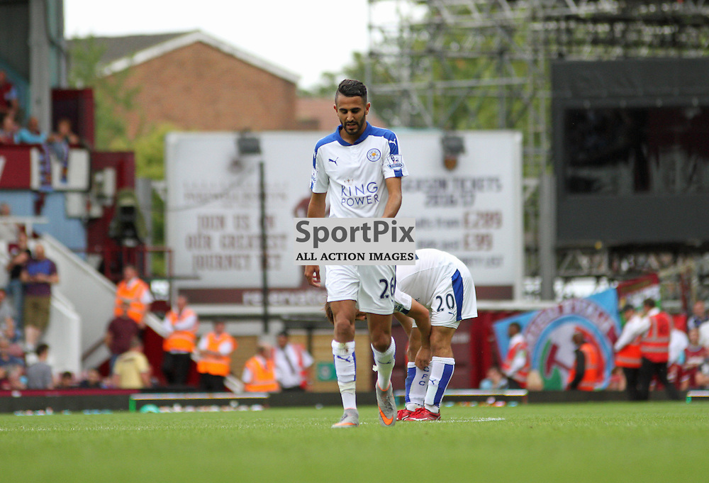 Riyad Mahrez after his goal During West Ham United vs Leicester City on Saturday the 16th August 2015.