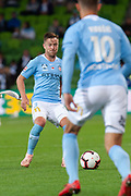 MELBOURNE, VIC - NOVEMBER 09: Melbourne City defender Scott Jamieson (3) passes the ball at the Hyundai A-League Round 4 soccer match between Melbourne City FC and Wellington Phoenix on November 09, 2018 at AAMI Park in Melbourne, Australia. (Photo by Speed Media/Icon Sportswire)