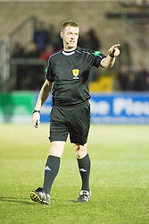 Ref David Lowe. Forfar Athletic 0 v 1 Arbroath, Scottish Football League Division Two game played 10/12/2016 at Station Park.