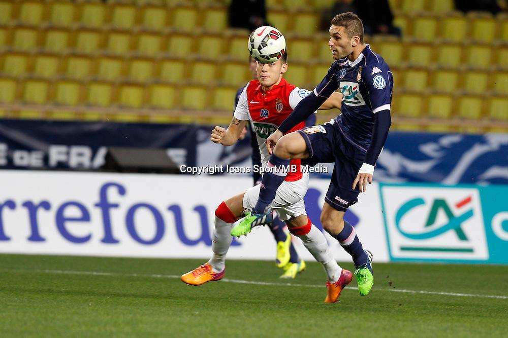 Lucas Ocampos / Cedric CAMBON    - 21.01.2015 - Monaco / Evian Thonon   - Coupe de France 2014/2015<br />Photo : Sebastien Nogier / Icon Sport