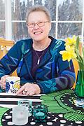 Piloten Ulla Rasilainen i Anchorage, Alaska, USA