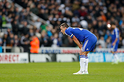John Terry of Chelsea looks dejected after Newcastle win 2-1 to inflict a first defeat in all competitions this season on Chelsea - Photo mandatory by-line: Rogan Thomson/JMP - 07966 386802 -06/12/2014 - SPORT - FOOTBALL - Newcastle, England - St James' Park - Newcastle United v Chelsea - Barclays Premier League.