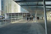 modern office buildings and business people leaving Japan Yokohama