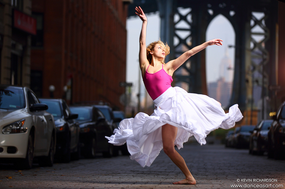 Dance As Art Streets of Dumbo Series with dancer Krystal Lamiroult