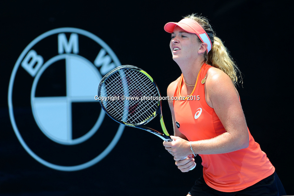 American player CoCo Vandewghe during Day 2 of the ASB Classic Women's International. ASB Tennis Centre, Auckland, New Zealand. Tuesday 6 January 2015. Copyright photo: Chris Symes/www.photosport.co.nz