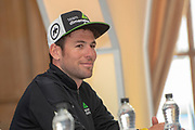 Mark Cavendish MBE during the Eve of tour press conference ahead of the first stage of the Tour de Yorkshire in the Leeds Civic Hall, Leeds, United Kingdom on 1 May 2019.