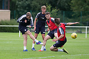 Dundee&rsquo;s Rory Loy fires in a shot -  Dundee FC - Pre-season training at University Grounds, Riverside, Dundee, Photo: David Young<br /> <br />  - &copy; David Young - www.davidyoungphoto.co.uk - email: davidyoungphoto@gmail.com