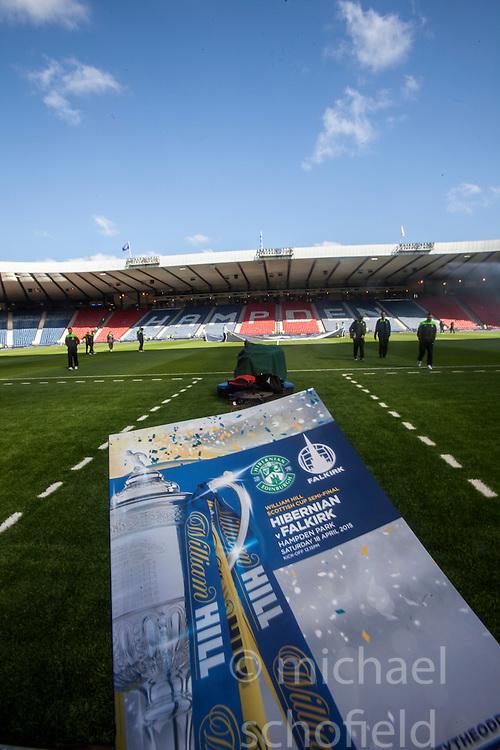 Hibernian v Falkirk, William Hill Scottish Cup semi-final, played 18/4/2015 at Hamden Park, Glasgow.