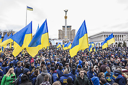 March 23, 2019 - Kiev, Kiev, Ukraine - Demonstration against ukrainian government corruption in Maidan Square, Kiev, Ukraine. (Credit Image: © Celestino Arce Lavin/ZUMA Wire)