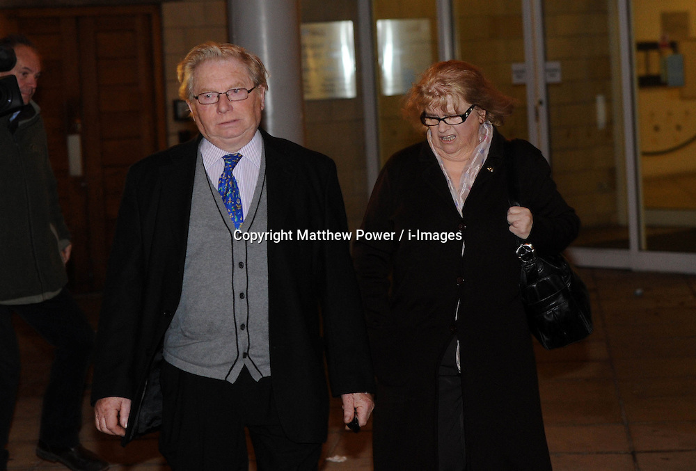 Bobby Roberts leaves Northampton Court after the first day of their trial for cruelty to an Elephant from their circus, UK, November 19 2012. Photo by Matthew Power / i-Images.