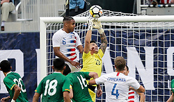 May 28, 2018 - Chester, PA, USA - Chester, PA - Monday May 28, 2018: Weston McKennie, Guillermo Viscarra during an international friendly match between the men's national teams of the United States (USA) and Bolivia (BOL) at Talen Energy Stadium. (Credit Image: © John Dorton/ISIPhotos via ZUMA Wire)
