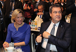 19.01.2019, Kleine Olympiahalle, Muenchen, GER, CSU Parteitag in München, im Bild Dr. Angelika Niebler und Markus Söder // during the CSU party congress at the Kleine Olympiahalle in Muenchen, Germany on 2019/01/19. EXPA Pictures © 2019, PhotoCredit: EXPA/ SM<br /> <br /> *****ATTENTION - OUT of GER*****
