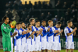 Bristol Rovers hold a minutes applause to remember former player Ray Mabbutt - Rogan Thomson/JMP - 15/11/2016 - FOOTBALL - Memorial Stadium - Bristol, England - Bristol Rovers v Crawley Town - FA Cup First Round Replay.