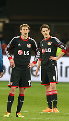 Football: Champions League<br /> Bayer 04 Leverkusen <br /> Stefan Kiessling and Philipp Wollscheid *** Local Caption *** © pixathlon