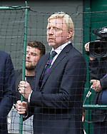 BORIS BECKER u, TV Kommentator auf dem Centre Court<br /> <br /> Tennis - Wimbledon 2016 - Grand Slam ITF / ATP / WTA -  AELTC - London -  - Great Britain  - 16 July 2017.