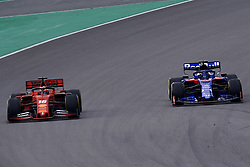 February 19, 2019 - Barcelona, Barcelona, Spain - Charles Leclerc of Monaco driving the (16) Scuderia Ferrari Mission Winnow SF90 and Alexander Albon of Thailand driving the (23) Red Bull Toro Rosso Honda STR14 during day two of F1 Winter Testing at Circuit de Catalunya on February 19, 2019 in Montmelo, Spain. (Credit Image: © Jose Breton/NurPhoto via ZUMA Press)