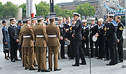 Raising the flag for Armed Forces Day <br /> at City Hall, London, Great Britain <br /> <br /> 20th June 2011<br /> <br /> Atmosphere<br /> before the flag raising ceremony commences <br /> Photograph by Elliott Franks