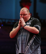 John Henderson during the World Matchplay Darts 2019 at Winter Gardens, Blackpool, United Kingdom on 23 July 2019.