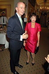 HRH PRINCESS ELIZABETH OF YUGOSLAVIA and MARK LAW Chairman of Partridge Fine Art at a reception to celebrate the launch of Prince Dimitri of Yugoslavia's one-of-a-kind jeweleery collection held at Partridge Fine Art, 144-146 New Bond Street, London on 11th June 2008.<br />