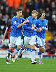 Peterborough United's Grant McCann celebrates - Photo mandatory by-line: Joe Meredith/JMP  - Tel: Mobile:07966 386802 29/12/2012 - Bristol City v Peterborough United - SPORT - FOOTBALL - Championship -  Bristol  - Ashton Gate Stadium -